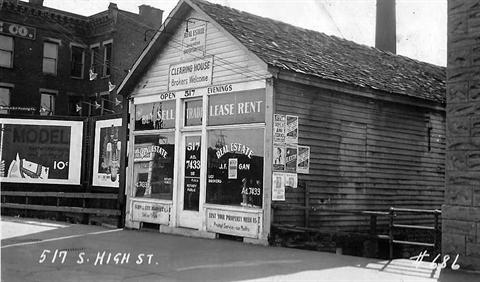 1935 - Real estate office at 517 South High Street.