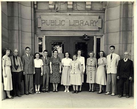 1940 - Librarians at Ann Arbor's Carnegie Library
