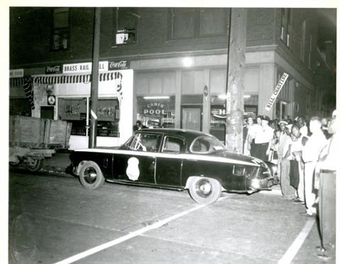 1956 - Crime Scene at 1301 Senate Avenue, 1956