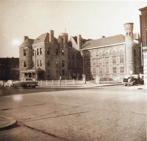 1950 - Marion County Jail, northwest corner Maryland and S. Alabama Streets