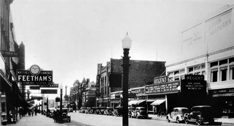 1940 - Western Ave. near the Regent theatre and Sears